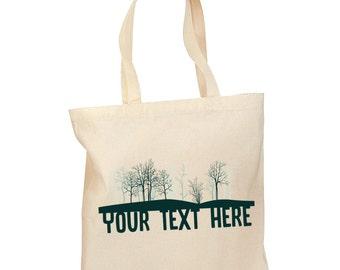 Personalized Woods Tote Bag - Custom Name Tote bag - Custom Gift Bag - woods Design