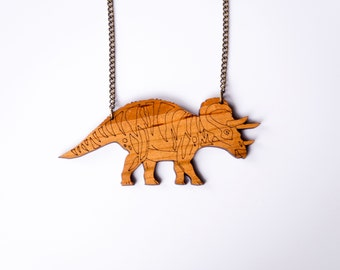 Dinosaur Triceratops Necklace. Dinosaur Chain. Dinosaur Pendant. Dinosaur Necklace. Gold Dinosaur Necklace. Bridal Jewelry Alternative Bride