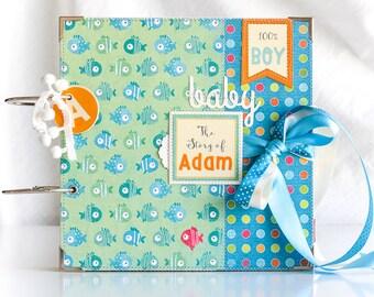 Baby Scrapbook Album, Scrapbook Album For baby Boy, Custom First Year Album, Personalized Scrapbook, Keepsake Baby Album, Keepsake Baby Gift
