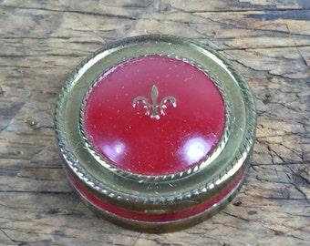 Vintage Louis Philippe Powder Case Red Gold