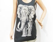 Elephant tank top fashion long long dress women tank top men tank top graphic shirt unisex tank top size M