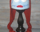 Adult Sally Nightmare Before Christmas crochet hat, Jack Skellington Tim Burton (NO PATTERN)
