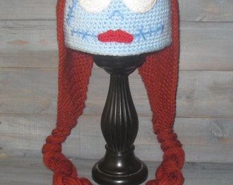 Adult Sally Nightmare Before Christmas Crochet Hat Jack Skellington Tim Burton