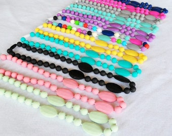 SALE!! Silicone Teething Necklace for Mommy - BPA Free - FDA Approved Food-Grade Silicone - Perfect Baby Shower or New Mom Gift - Chew Beads