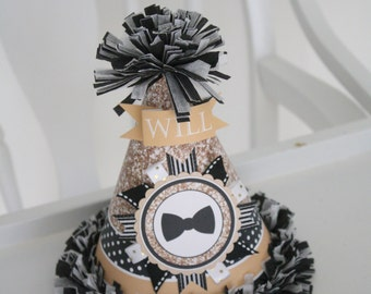Mr. Onederful Birthday Party Hat, Party Hat Mr. Onederful, Mr. Onederful Outfit, Black and Gold Birthday Hat