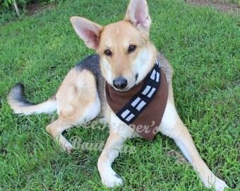 Star Wars Dog Bandana Chewbacca dog costume Halloween over the collar bandana