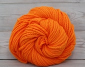Apollo - Hand Dyed Bulky Superwash Washable Merino Wool Bulky Chunky Yarn - Colorway: Safety Orange