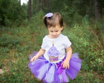 PURPLICIOUS DELIGHT--Birthday Cupcake Bodysuit or Shirt Only, sizes Newborn-5T