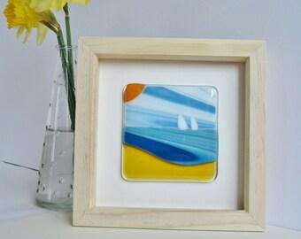 Seaside Glass Framed Art