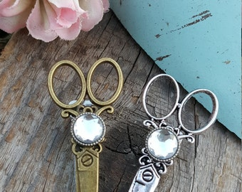 Bronze or silver with gem hair stylist hair or apron clip