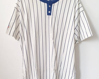 vintage russell athletic henley mens size XL deadstock NWOT made in USA 90s