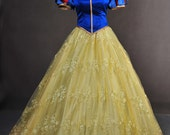 Deluxe Snow White and the Seven Dwarfs Adult Cosplay Costume Gown Dress