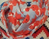 Goldfish Infinity Scarf - Flannel - Kawaii - OOAK