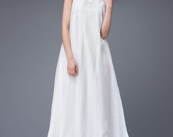White chiffon dress women's dress prom dress C880