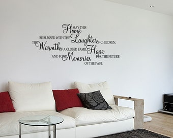 Wall Decal Quotes May This Home Be Blessd With Laughter  Wall  Quotes Art Sticker Mural Quote (73)