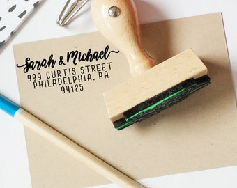 Return Address Stamp, Custom Address Stamp, Calligraphy Stamp, Personalized Address, Return Label, House Warming Gift, Wedding Gift