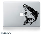 Rainbow Trout Vinyl Decal - fits car windows, laptops and any other smooth surface - 26 colors to pick from K359