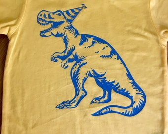 Dinosaur birthday shirt, T-Rex birthday shirt, Dinosaur Shirt, Boys Birthday Shirt, dinosaur party, yellow shirt, 2nd, 3rd, 4th, 5th