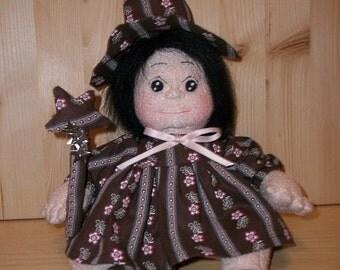PDF Tutorial Soft Cloth Doll -   Cloth Doll Halloween or Chic Enchantress - Soft Sculpture Doll.