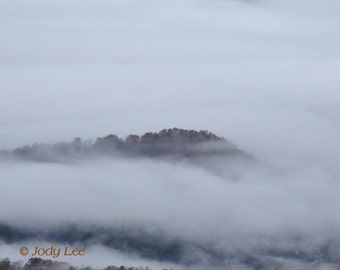 Blue Ridge Mountains Autumn Fog Landscape Nature Photography