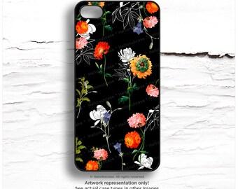 iPhone 7 Case Black Floral iPhone 7 Plus iPhone 6s Case iPhone SE Case iPhone 6 Case iPhone 6s Plus iPhone iPhone 5S Case Galaxy S6 FM14