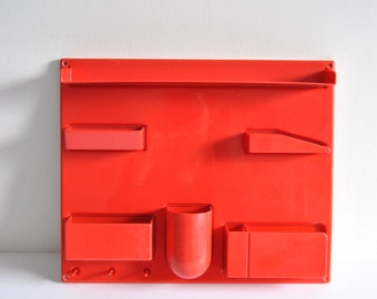 Wall-All III Unit Red Plastic Mod Dorothee Maurer-Becker Uten.Silo Storage Compartments