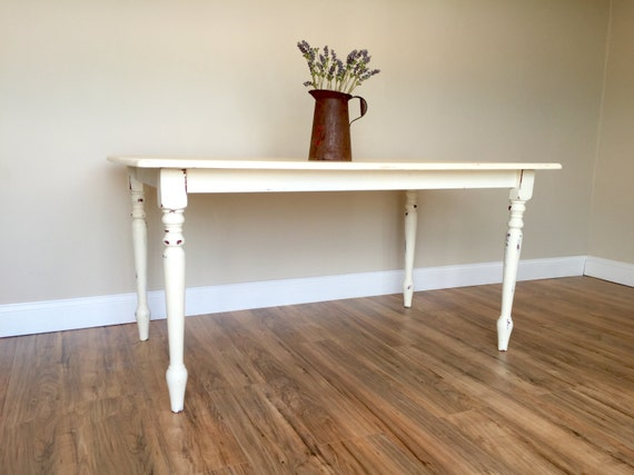Small Rustic Kitchen Table: White Kitchen Table Rustic Farm Table Small By VintageHipDecor