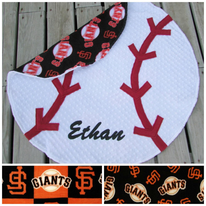 Baseball Blanket Sf Giants Minky Blanket Sports Nursery