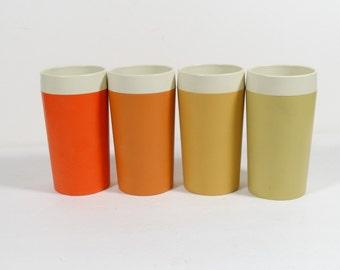 1950s Gitsware Tumblers - Set of 4 - Midcentury Tumblers - Juice Glasses