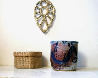 studio pottery planter, studio pottery vase, vintage planter, vintage vase, pottery planter