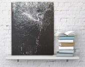 "Black Ballerina Print, Giclee Art Print, Canvas Black and White, Canvas Art Ballet Dancer ""Light of Giselle"" by Yuri Pysar"