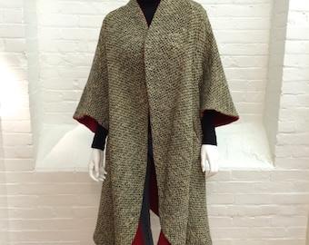 vintage Pauline Trigere swing coat // Trigere clutch coat // wool tweed coat // 1960s