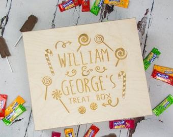 Sweets & Treats Box - Gift For Children - Kids Gift - Birthday Gift - Wooden Box - Childrens Box - Personalised Box - Personalised Wood Box