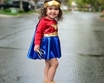 Boutique Custom Wonder Girl, Woman 3pc set, Birthday, Pageant, Photography sizes18m-4