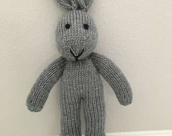 Stuffed Animal - Handmade Toy - Knitted Bunny - Photo Prop - Stuffed Bunny - Soft Toy