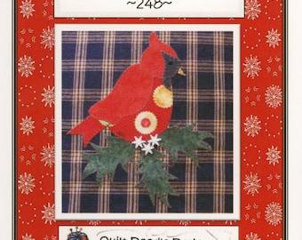 Winter Cardinal Applique Pattern by Quilt Doodle Designs (QD248)