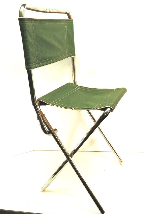 Camp Folding Chair Stool Canoe Camping Vintage Campfire Chair