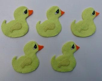 5 little ducks felt finger puppets