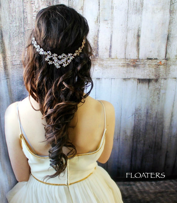 Bridal Hair Accessory, Wedding Headpiece, Hair Jewelry, Gold Headpiece, Brides, Gold Wedding