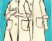 Prominent Designer A622 Misses' SCAASI 1960s Coat with Two Sleeve Options Sewing Pattern Sz 14