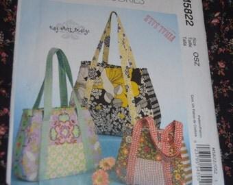 McCalls M5822 Bags Sewing Pattern - UNCUT