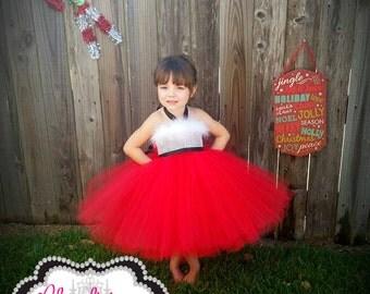 Santa Tutu Dress  Santa dress Costume   Mrs. santa claus Tutu dress   Christmas Tutu dress   newborn- child size 8 listing