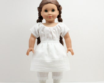 Historical 1850s Linen Corded Petticoat for 18 Inch Dolls
