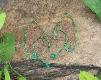 Elf Ear Cuffs - Tree - Elven Jewelry - Pixie Ears - Fairy Ears - Faery Ears