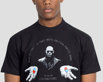 US Election Morpheus Meme T-shirt - What is I Told You - Funny Political Tshirt by Allriot. Free UK and US Shipping.