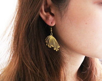 Flower Pollen Graphic illustration Earrings - handcrafted jewelry