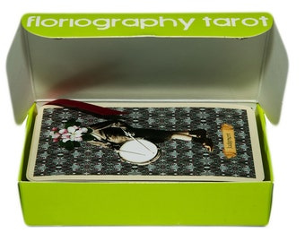 Floriography Tarot Deck, 78 cards plus Box: handmade with magnetic snap closures for safekeeping