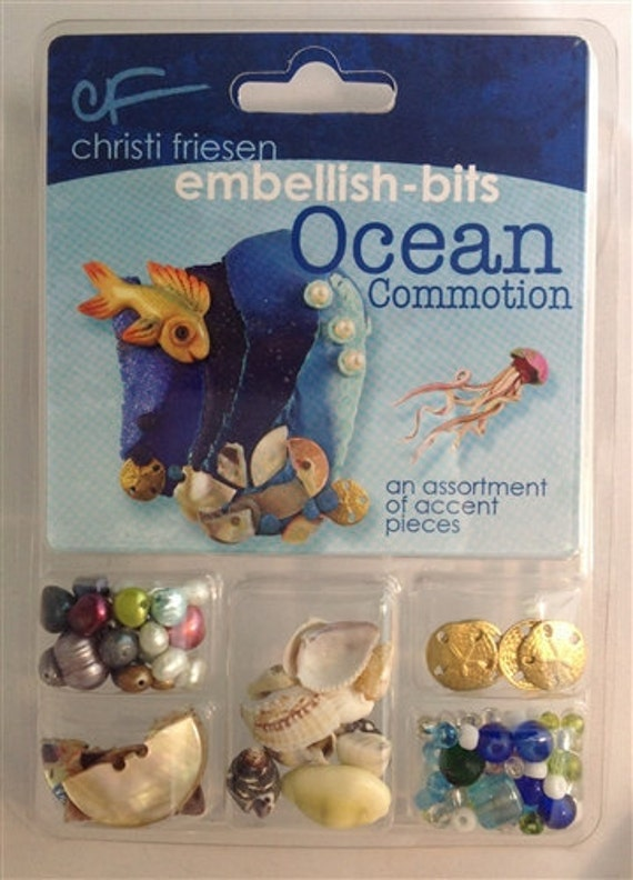 Ocean commotion bits, pieces and embellishments, from sanddollars to shells and more a collection by Christi Friesen