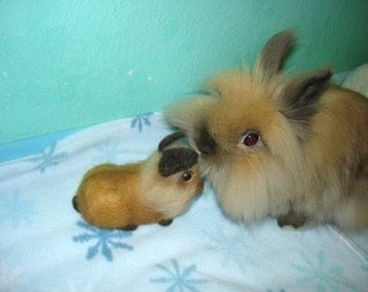 YOUR RABBIT - Custom Pet Rabbit - Easter Rabbit - 3D Pet Replica - Pet Memorial - Needle Felted Rabbit - Made To Order