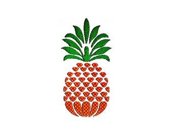 Pineapple Embroidery Design. 3 Sizes. Instant Download Pattern.